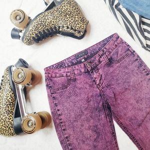 STS Blue   Custom Pink Acid Washed Jeans